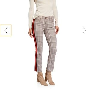 Mother the insider pants in plaid with stripes